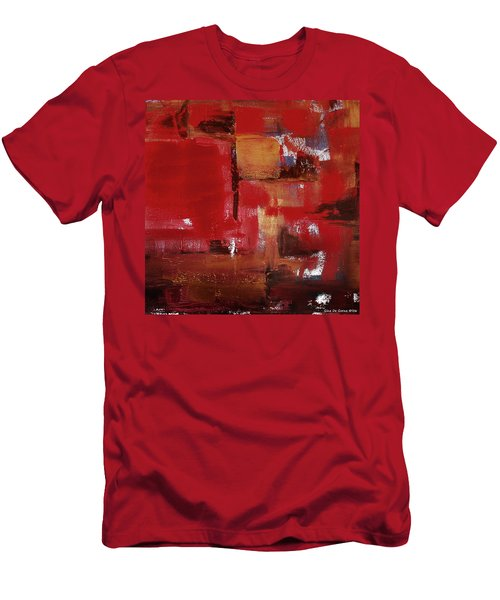 Abstract In Red Men's T-Shirt (Athletic Fit)