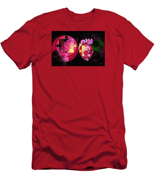 Abstract Painting - Deep Carmine Men's T-Shirt (Slim Fit) by Vitaliy Gladkiy
