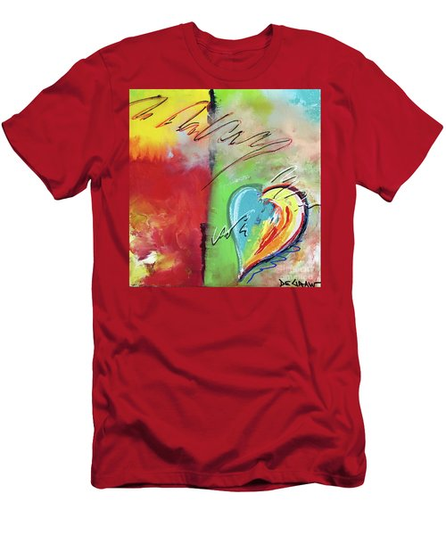 Abstract With Heart Men's T-Shirt (Athletic Fit)