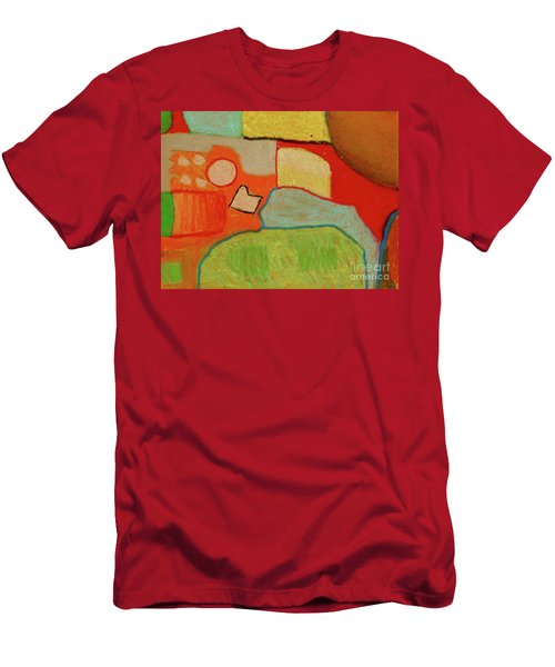 Men's T-Shirt (Slim Fit) featuring the pastel Abstraction123 by Paul McKey