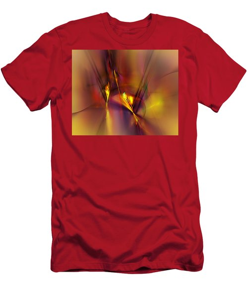 Abstracts Gold And Red 060512 Men's T-Shirt (Athletic Fit)