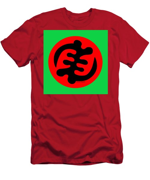 Adinkra Symbol Gye Nyame Except God Only God Men's T-Shirt (Athletic Fit)
