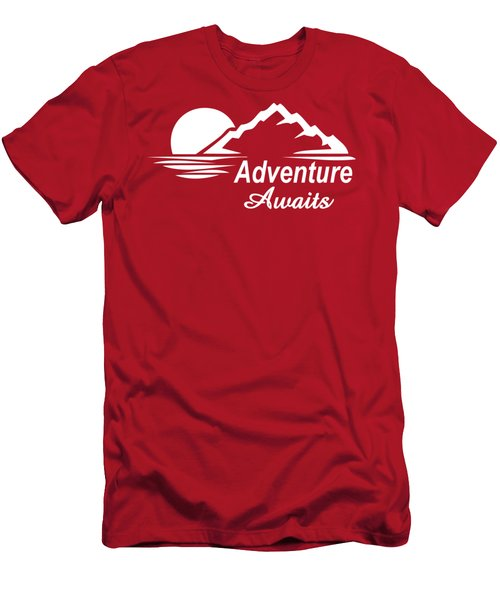 Adventure Awaits Men's T-Shirt (Athletic Fit)