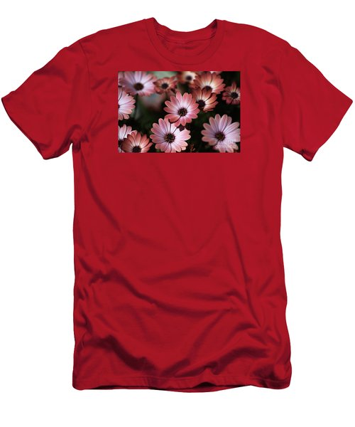 African Daisy Zion Red Men's T-Shirt (Slim Fit) by Joy Watson