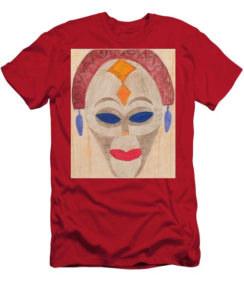 African Mask Men's T-Shirt (Athletic Fit)