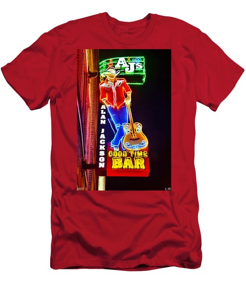 Aj's Good Time Bar Men's T-Shirt (Athletic Fit)