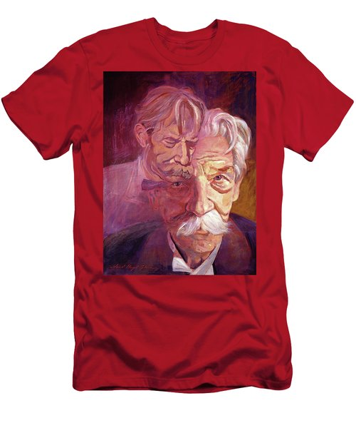 Albert Schweitzer Portrait Men's T-Shirt (Athletic Fit)