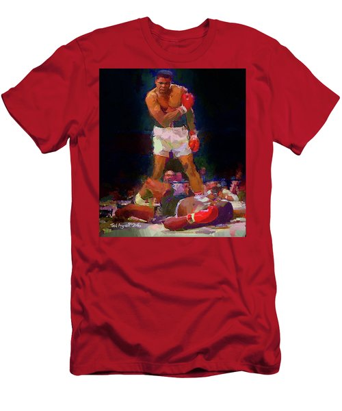 Men's T-Shirt (Slim Fit) featuring the painting Ali by Ted Azriel
