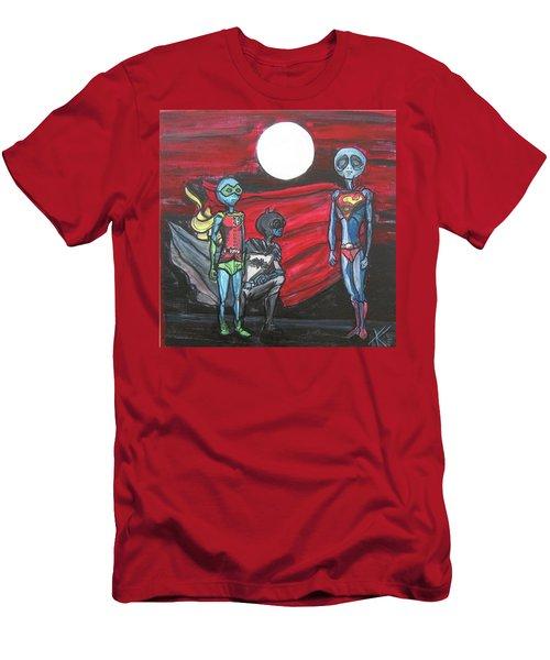 Alien Superheros Men's T-Shirt (Athletic Fit)