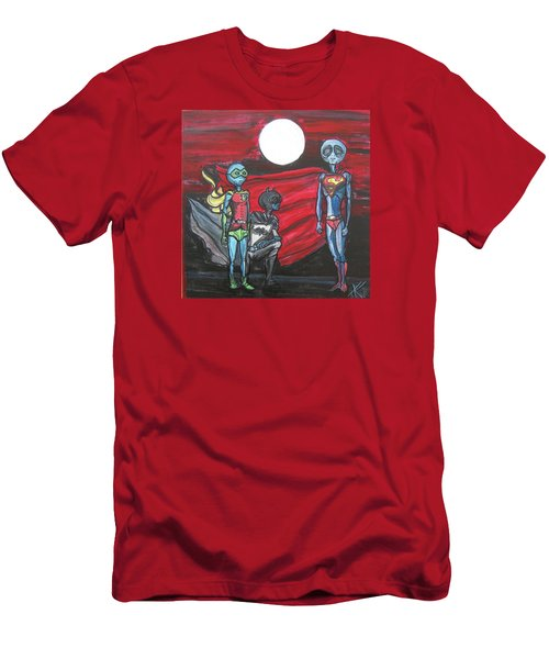 Alien Superheros Men's T-Shirt (Athletic Fit)