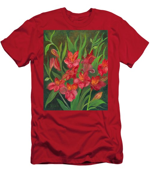 Alstroemeria Men's T-Shirt (Athletic Fit)