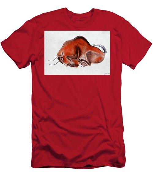 Altamira Prehistoric Bison At Rest Men's T-Shirt (Athletic Fit)