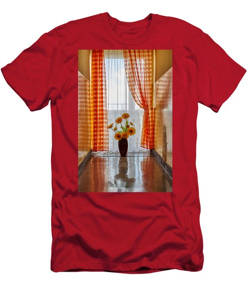 Amber View Men's T-Shirt (Slim Fit) by Tgchan