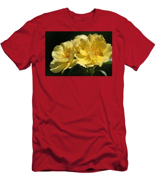 Amber Yellow Country Rose Men's T-Shirt (Athletic Fit)