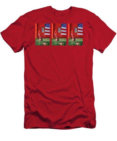 American Farm - 1 - Mug Men's T-Shirt (Athletic Fit)