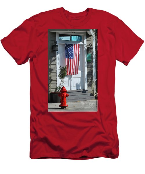 Men's T-Shirt (Athletic Fit) featuring the photograph American Hydrant by Jost Houk