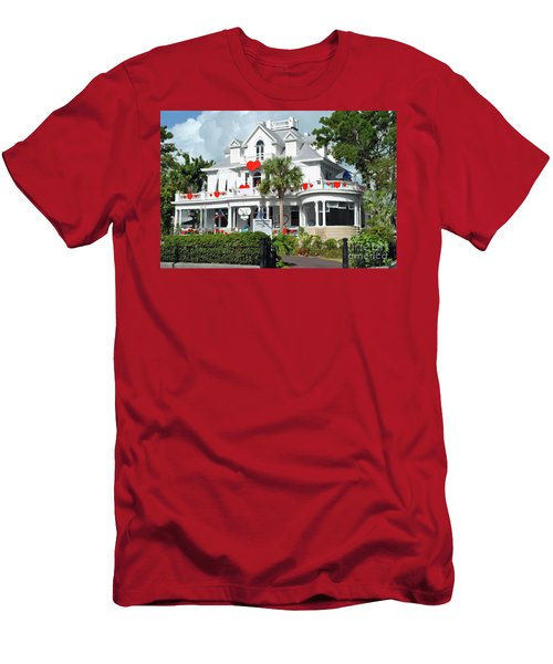 Men's T-Shirt (Athletic Fit) featuring the photograph Amsterdams Curry Mansion Inn by Jost Houk