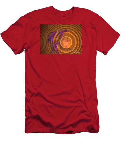 An Echo From The Past - Abstract Art Men's T-Shirt (Slim Fit) by Sipo Liimatainen