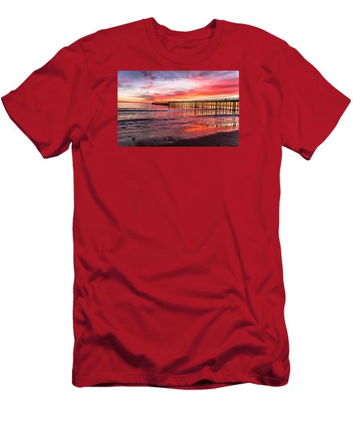 Seacliff Sunset Men's T-Shirt (Slim Fit) by Lora Lee Chapman