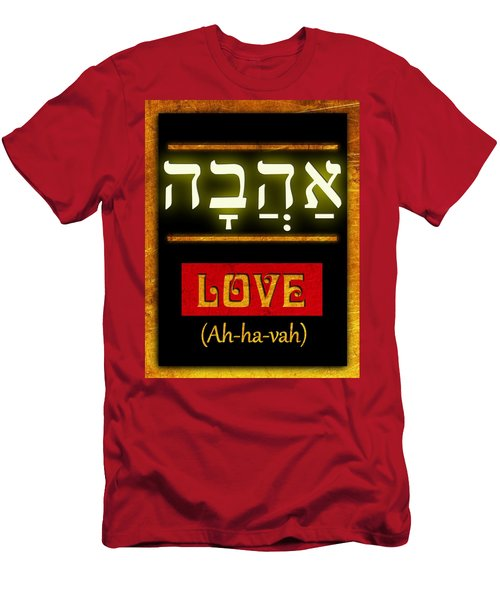 Men's T-Shirt (Slim Fit) featuring the digital art Ancient Characters For Love by John Wills