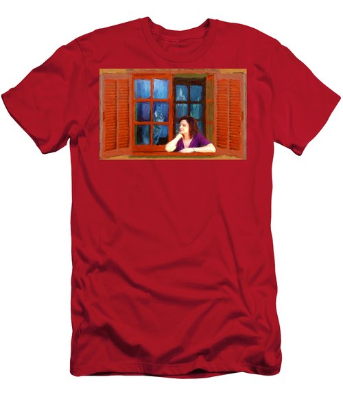 Andrea And The Cat Men's T-Shirt (Athletic Fit)