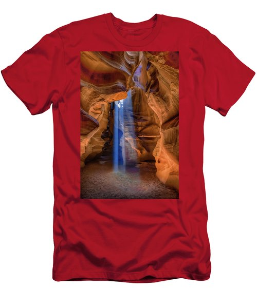 Men's T-Shirt (Slim Fit) featuring the photograph Antelope Canyon Blues by Phil Abrams