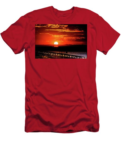 Antelope Island Marina Sunset Men's T-Shirt (Athletic Fit)