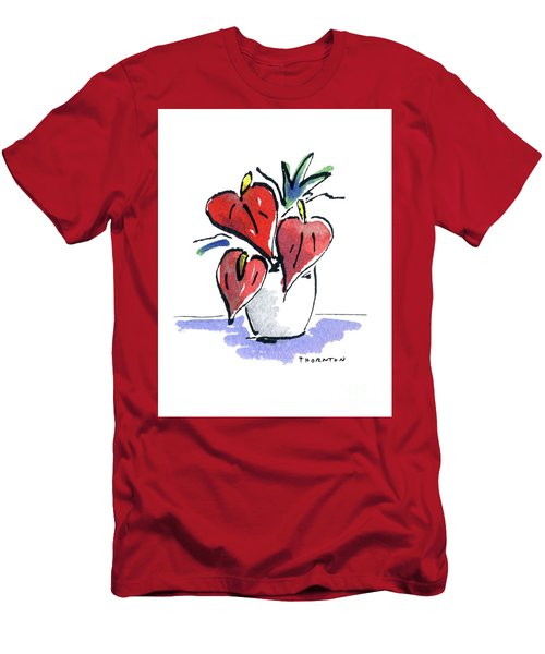 Anthurium Vase Men's T-Shirt (Athletic Fit)