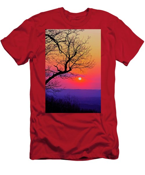 Appalcahian Sunset Tree Silhouette #2 Men's T-Shirt (Athletic Fit)