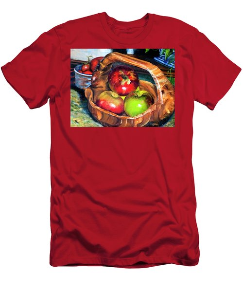 Apples In A Burled Bowl Men's T-Shirt (Athletic Fit)