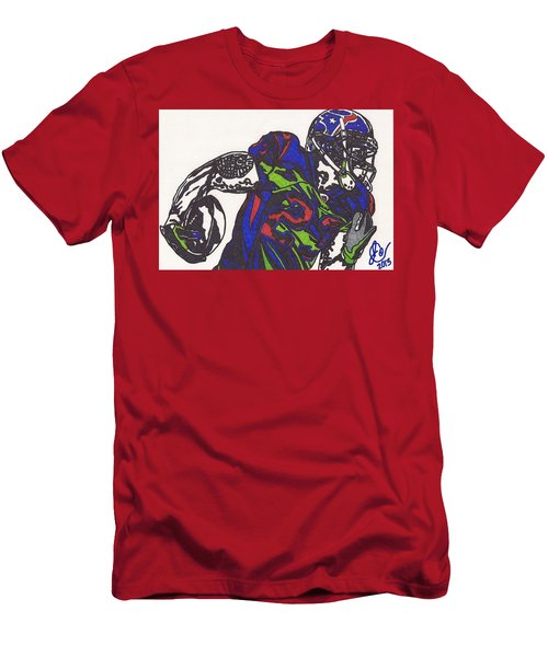Men's T-Shirt (Slim Fit) featuring the drawing Arian Foster 1 by Jeremiah Colley