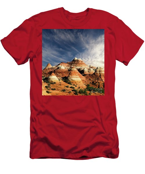 Men's T-Shirt (Slim Fit) featuring the photograph Arizona North Coyote Buttes by Bob Christopher