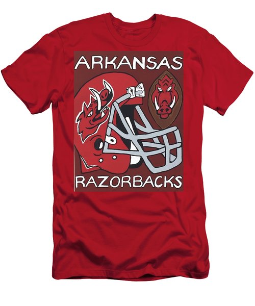 Arkansas Razorbacks Men's T-Shirt (Slim Fit) by Jonathon Hansen