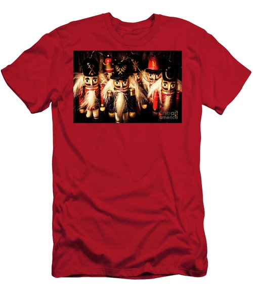 Men's T-Shirt (Athletic Fit) featuring the photograph Army Of Wooden Soldiers by Jorgo Photography - Wall Art Gallery
