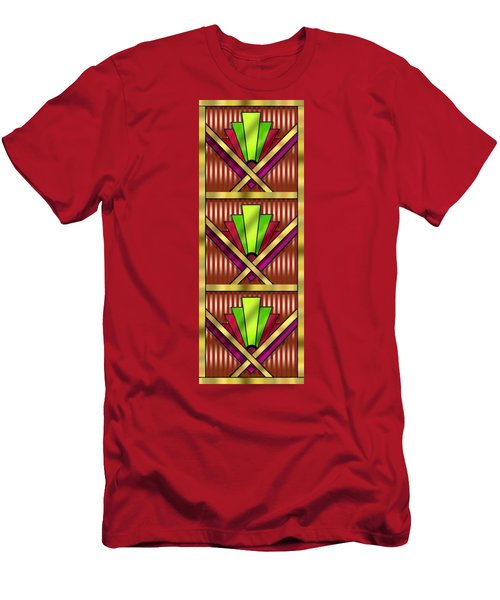 Art Deco 13 Tiles Men's T-Shirt (Slim Fit) by Chuck Staley