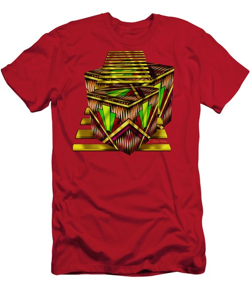 Art Deco Cubes 2 - Transparent Men's T-Shirt (Athletic Fit)
