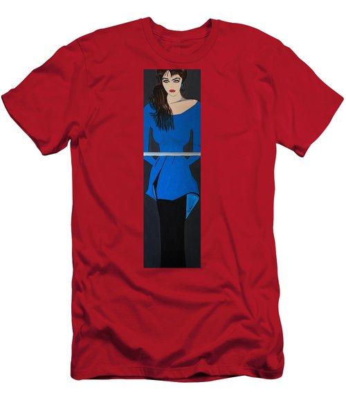 Art Deco  Girl Waiting Men's T-Shirt (Athletic Fit)