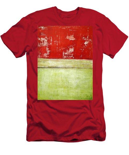 Art Print Rotgelb Men's T-Shirt (Athletic Fit)