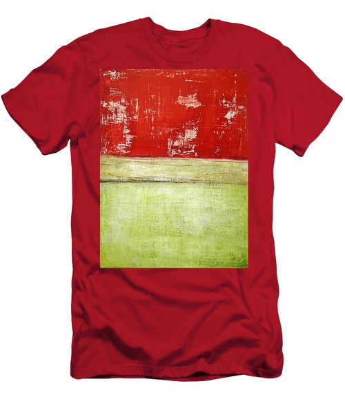 Art Print Rotgelb Men's T-Shirt (Athletic Fit)