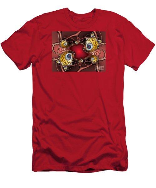Men's T-Shirt (Slim Fit) featuring the digital art Artdeco by Karin Kuhlmann