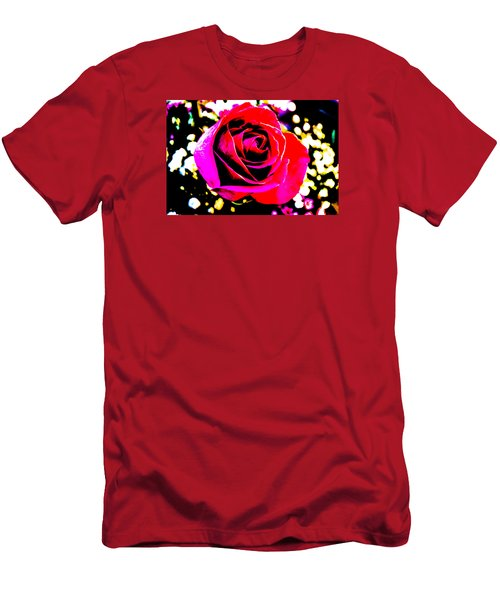 Men's T-Shirt (Slim Fit) featuring the photograph Artistic Rose - 9161 by G L Sarti