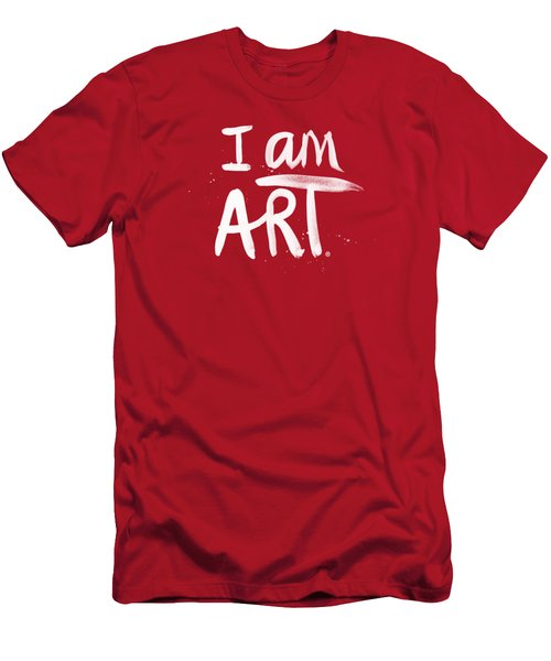 Men's T-Shirt (Slim Fit) featuring the mixed media I Am Art- Painted by Linda Woods
