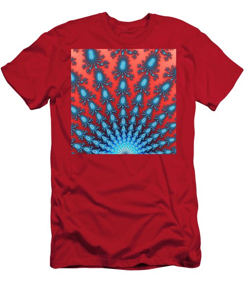 Fractal Starburst Men's T-Shirt (Athletic Fit)