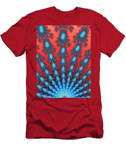 Men's T-Shirt (Athletic Fit) featuring the digital art Fractal Starburst by Daniel George