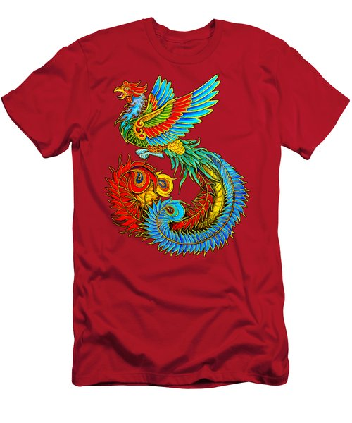 Fenghuang Chinese Phoenix Men's T-Shirt (Slim Fit) by Rebecca Wang