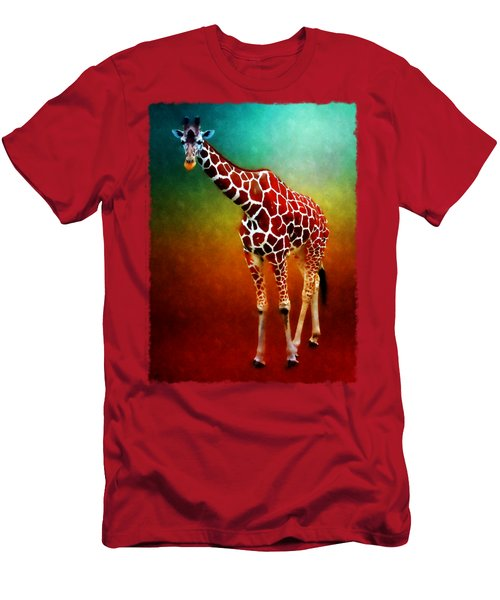 At The Zoo - Giraffe II Men's T-Shirt (Athletic Fit)