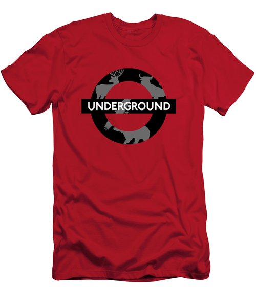 Underground Men's T-Shirt (Slim Fit) by Alberto RuiZ
