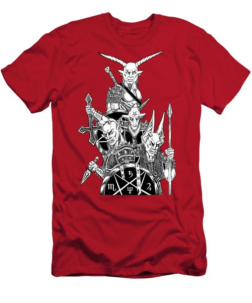 The Infernal Army White Version Men's T-Shirt (Athletic Fit)