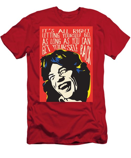 Mick Jagger Pop Art Quote Men's T-Shirt (Athletic Fit)