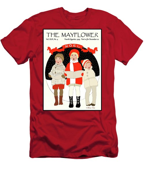 Children Caroling At Christmas Men's T-Shirt (Athletic Fit)